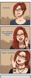 Laughing Elvira by oshirockingham