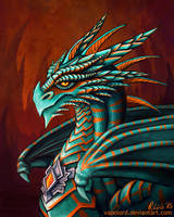 Dragon Chieftain Portrait by Vapolord