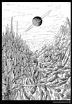 Inktober 2017 #2 Split Planet by Vapolord