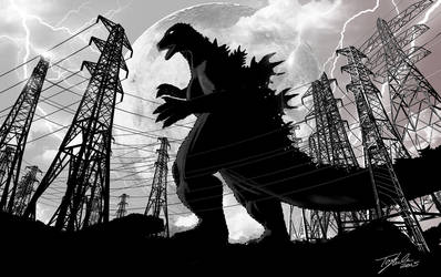 Godzilla - Ride The Lightning by TonyLuke