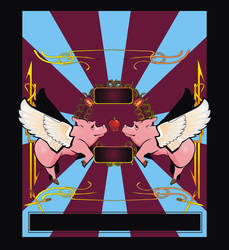 Flying Pig Poster by shanethayer