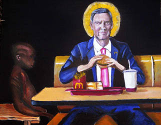 McDonalds CEO eats burger in front of starving chi by shanethayer