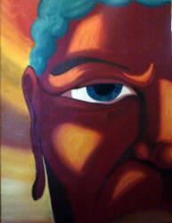 Open eyed Buddha by shanethayer