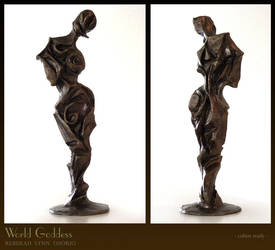 World Goddess-cubist sculpture by rebekahlynn