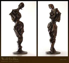 World Goddess-cubist sculpture by rebekahlynn