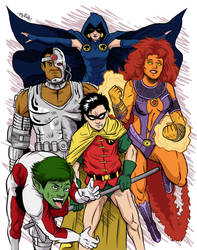The New Teen Titans by FearsomeA