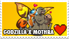 Godzilla x Mothra Stamp by misawafujisaki-stamp