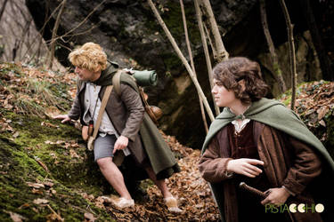 Frodo and Sam looking for the way - Cosplay by Axel3601