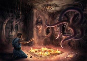 Demon Summoning by Elderscroller