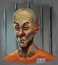 Convict - Painting practice by Elderscroller