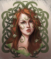 Celtic Forest Girl by Elderscroller