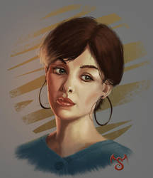 Female Portrait by Elderscroller