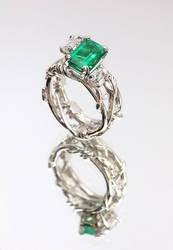 Emerald ring by carpe0diem