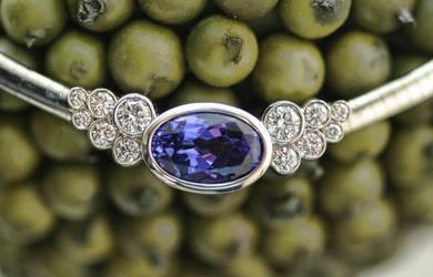 Tanzanite and diamond necklace by carpe0diem