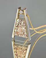 Mokume Gane Pendant by carpe0diem