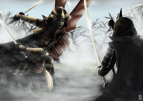 Samurai's honour by John-Stone-Art