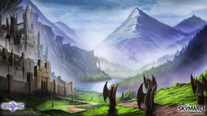 Mordanian Mountains by John-Stone-Art
