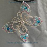 Blue Butterfly by cyborgbutterfly