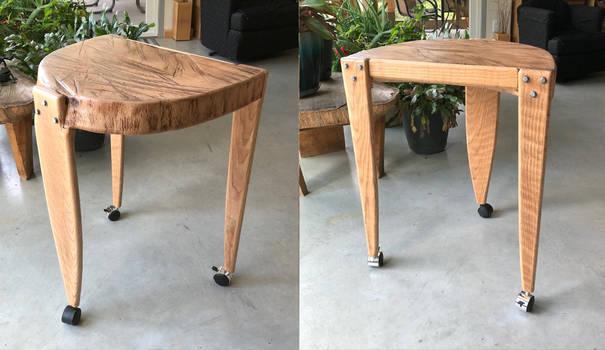 three legged oak table by carvenaked