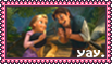 Tangled YAY stamp by Blizzardwind