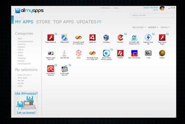 Allmyapps main interface by XavierBoubert