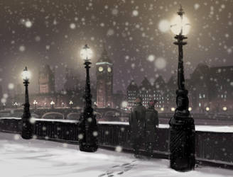 Walk with me by the Thames by AriaDog