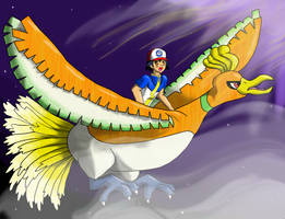 Ash and Ho-oh by charlot-sweetie
