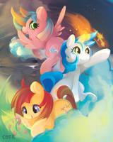 random ponies by Cenit-v