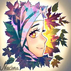 Leafs,Autumn,Girl by AzzouBK