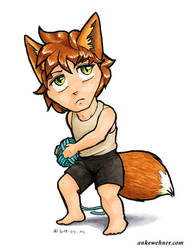 Fox Boy by ankewehner