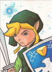 Link Sketch Card by Ross-A