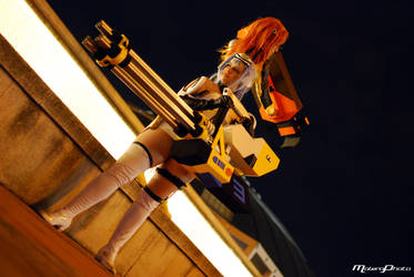 Fighting KOS-MOS by Rinoa00Rose