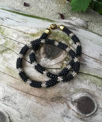 Matte black necklace by Naidiriv