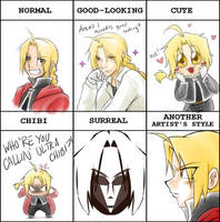 PIXIV Style Meme - Ed Elric by kra
