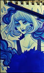 blue girl by Pandry