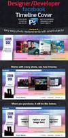 Designer / Developer Facebook Timeline Cover -PSD- by squizmo