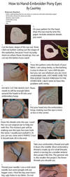 Embroidered Eyes: Tutorial by caashley