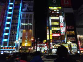 Shinjuku at Night by moldypotatoes