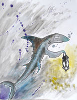 Lantern Shark by DracoPhobos