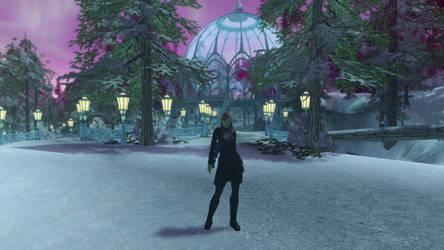 Melana in Winter Wonderland (Star Trek Online) by suburbantimewaster