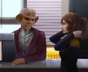 Marino Negotiates with Quark by suburbantimewaster