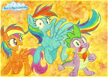 Rainbow Dashes everywhere! by CathyNoire