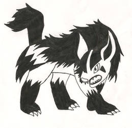Midnight The Mightyena by werewolfking1234