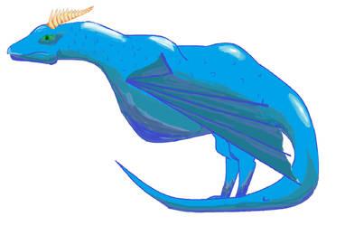 Paint blue dragon by zipcatnap
