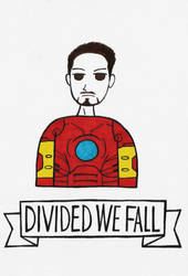 Divided We Fall: Tony Stark by michnguyenart