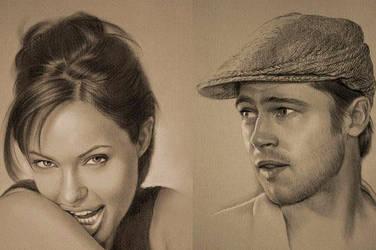 Angelina Jolie - Brad Pitt.. by Pesimisth