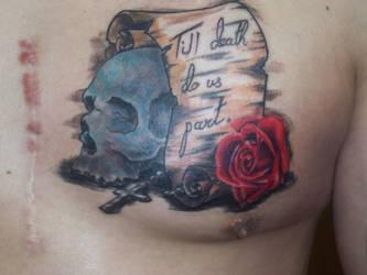 skull rose by kamuyart