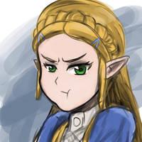Pouty Zelda by CaiusNelson