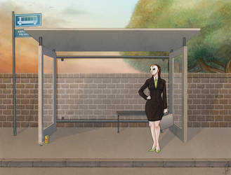 Waiting for the Bus by jurinova