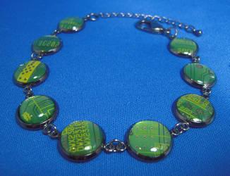 Circuit Board Bracelet by Llyzabeth